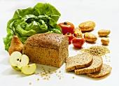 Lettuce; Vegetables; Fruit & Bread