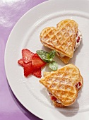 Sweet Waffles with Strawberries & Ricotta Cheese
