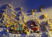 Santa Cookie Chirstmas Scene