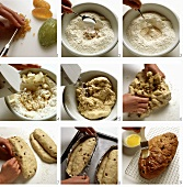 Baking butter stollen (German Christmas loaf)