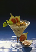 Semolina Mousse with Figs & Almonds
