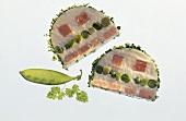 Ham Terrine with Green Peas