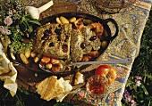 Meat Loaf in a Bed of Vegetables