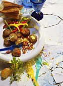 Meatballs with Bell Pepper Salad