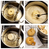 Preparing pineapple fritters