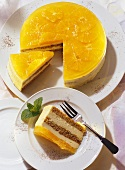 Orange mousse gateau