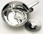 Pan with a Sieve and a Crank Handle