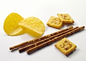 Various savoury biscuits