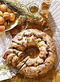 Apricot wreath