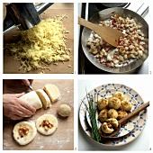 Potato dumplings from cooked potatoes
