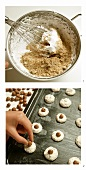 Baking nut cookies