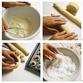 Baking vanilla cookies
