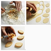 Baking apricot biscuits