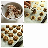 Baking nut biscuits