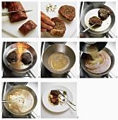 Pfeffersteaks mit Sauce zubereiten
