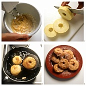 Preparing apple fritters