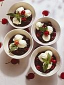 Flamed Cherries with Vanilla Icecream