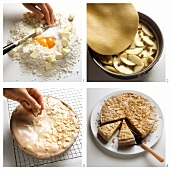 Baking a covered apple cake