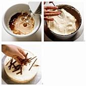 Making chocolate mascarpone torte