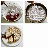 Making redcurrant torte