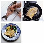 Preparing fried carp