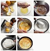 Quark omelette with fruit ragout