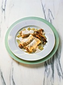 Chanterelle Canelloni with Leek