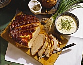 Cold Roast Pork with Mustard Mousse