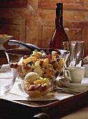 Fruit Salad with Vanilla Icecream