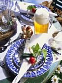 Bavarian Snack Table Setting
