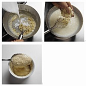Preparing cheese souffle