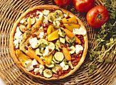 Carrot-Zucchini Pizza with Bell Pepper