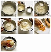 Making Bavarian cream with fruit sauce - main image 047639
