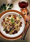 Risotto with Poultry Liver and Mushrooms