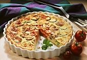 Courgette and tomato quiche