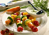 Vegetable Skewers with Herb Quark