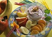 Fruit with Yogurt Mousse
