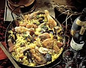 Spanish Paella with Assorted Meat and Seafood