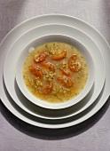 Unripe Spelt Grain-Tomato Soup