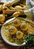 Teltow turnips with herb stuffing