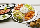 Assorted Raw Vegetables with Dips