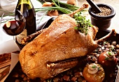 Roast Goose with Herb Stuffing