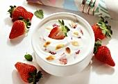Fruit Quark with Strawberries