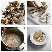 Making creamed mushroom soup