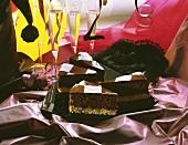 Chocolate chessboard cake