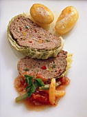 Savoy Cabbage Meat Loaf with Potatoes
