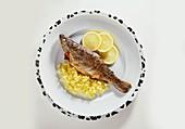Spanish Trout with Saffron Rice