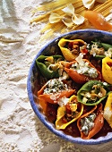 Colorful Filled Pasta Shells