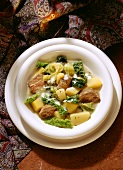 Savoy Cabbage Stew with Lamb