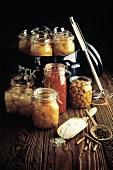 Jars of Preserved Fruit